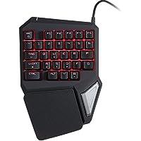 KKmoon Delux T9 Pro Tastiera Professionale Una / Singola Mano USB Esport Gaming Via Cavo 29 Chiave LED Retroilluminato Per LOL PC