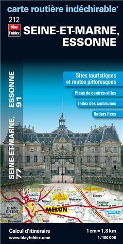 Seine et Marne, Essonne : 1/180 000