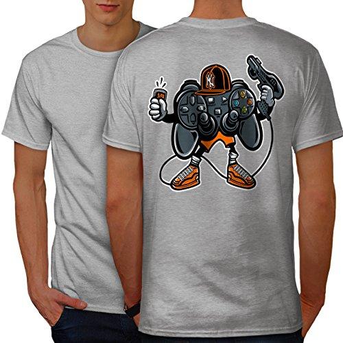 wellcoda Cool Joystick Nerd Gaming Männer XL Ringer T-Shirt