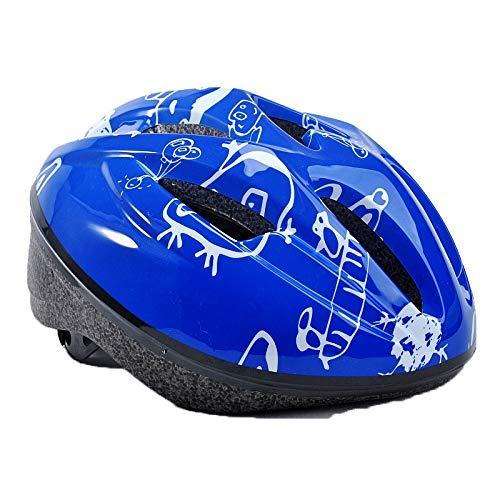 LHY SPORTS SERLES Kinder Skateboard Inline Skates Helm,Kinder Fahrradhelm Roller Sport-Schutzausrüstung Helm,Blue