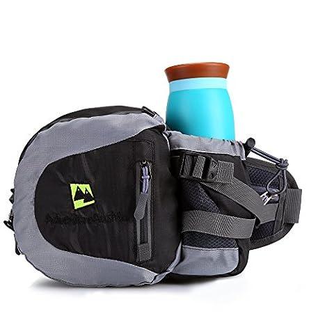 Schwarz Super leichtes Sport Hüfttasche von AdventureAustria. Wasserbeständiges Bauchtasche Gürteltasche
