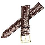 auténticas bandas de color marrón de alta calidad reloj de cuero de las correas de reemplazo de aspecto elegante de 18 mm para los hombres y las mujeres