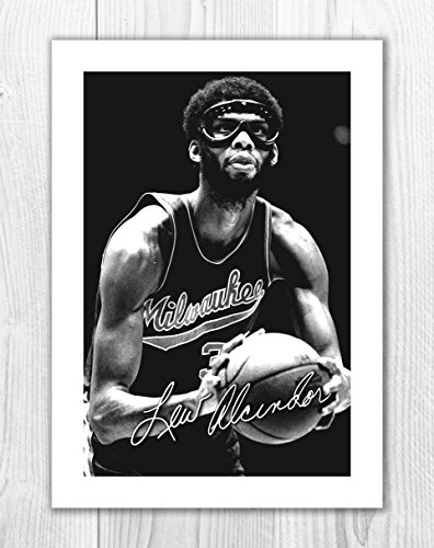 a551def77ed8 Kareem Abdul-Jabbar - Milwawkee - NBA 1 SP - Signed Autograph Reproduction  Photo A4 Print (Print Only)