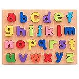 ouken Kinder Holz Peg Puzzle pädagogisches Spielzeug für Kleinkinder Bundle Sets Alphabet ABC Buchstaben und andere Zeichen aus Holz Puzzle Board 1 Set