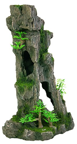 Trixie 8857 Acuario Decoración Rock Formation con Cuevas/plantas vertical 28 cm