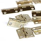 Foxnovo Hinges for Cabinets Connectors - 30pcs (Golden)