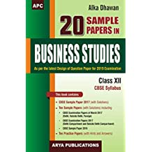 20 Sample Papers in Business Studies Class XII