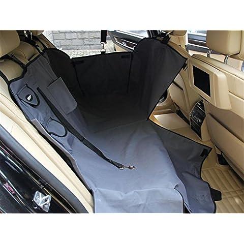 Migliore seggiolino auto rimovibile Pet Pet copertura impermeabile Oxford panno cane Coprisedile , gray , 130*145cm, side edge high 39cm