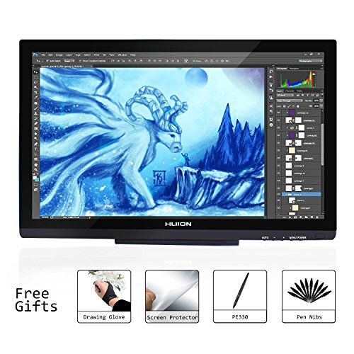 """Huion GT-220 V2 (Noir) 21.5"""" Pen Display Moniteur Graphique IPS Interactive Pen Monitor pour Windows et Mac"""