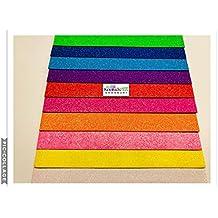 Hojas de espuma EVA con purpurina, colores pastel Pack de 10colores