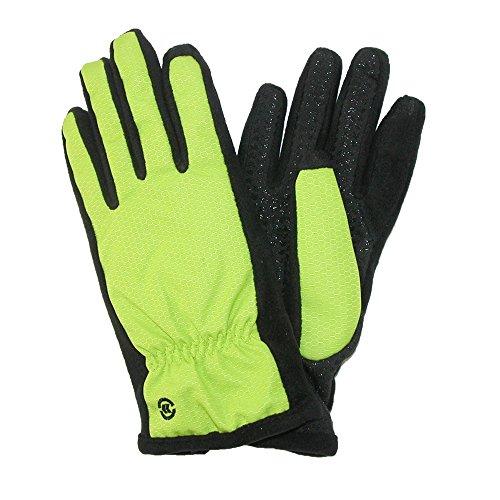 Isotoner Nylon-handschuhe (totes ISOTONER WoHerren Nylon SmarTouch Winterhandschuhe, Mittel/groß, Lime Punch-)