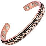 MPS® Bracelet jonc, Bracelet magnétique en cuivre, Avec six aimants--#BAC1046