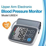 KAIDINUR Monitor di Pressione sanguigna, Digitale Superiore Braccio sfigmomanometro per casa-con Ampio Display LCD, measuremen Automatico T e archivio di Memoria, Polsino