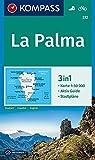 La Palma: 3in1 Wanderkarte 1:50000 mit Aktiv Guide und Stadtplänen. Fahrradfahren (KOMPASS-Wanderkarten, Band 232) -