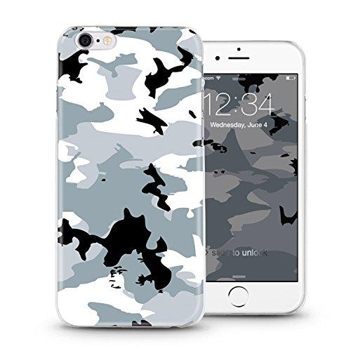 ITGM iPhone Cover Custodia antiurto per iPhone in TPU, leggera in silicone, con foto, protezione antigraffio, Silicone, Battery, iPhone 6, 6S camouflage