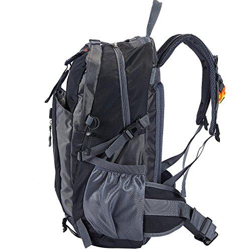 Babimax Zaino di viaggio all'aperto Sport tempo libero 40L Zaino alpinismo Con fibbia salvavita professionale Colore Viola Black