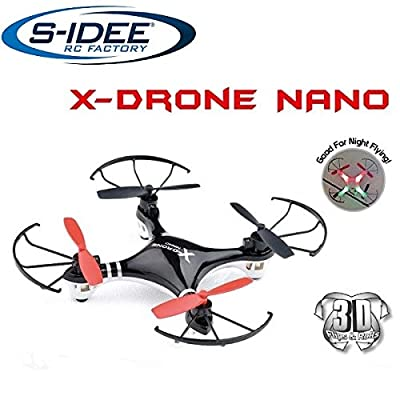 S-idee® 01162, H107 quadcopter, RC remote control, 4.5 channel, 2.4 GHz, helicopter with gyroscope technology For indoors and outdoors, with built-in gyro and 2.4GHz controller. Ready to fly! from Fa. s-idee