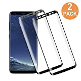 """FAMCL Verre Trempé Pour Samsung Galaxy S8, [Lot de 2], -3D Incurvé -Anti-casse -Anti Rayures -Haute Définition -Sans Bulles D'AIR -Ultra Résistant Dureté 9H -Facile à Installer -Noir [5.8""""]"""