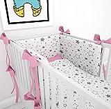 Tour de lit avec schärpen multicolores pour le lit bébé 60x 120cm lit Tour de...