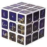 TTXLY Cubo Cubos de Rubik Magia Matemática Química 3x3x3 Increíble Monstruo de Halloween Cerebro Liso Velocidad Trenzada 3D Juguete Educativo Cubo de Velocidad,White