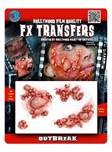 FX Transfers Beulenpest Make-Up Set für Halloween, Karneval und Kostümpartys