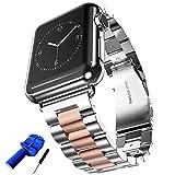 huanlong Edelstahl massiv Metall Apple Uhrenarmband Einzigartige Polieren Prozess Business Ersatz...