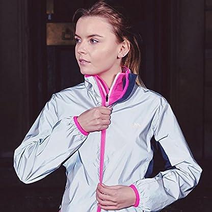 Trespass Women's Lumi Active Windproof and Waterproof Cycling and Running Outdoor Luminous Jacket 4