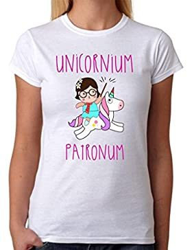 MardeTé Camiseta Unicornium Patronum. Camiseta de Unicornio Divertida para Destacar. Regalo Divertida. Algodón...