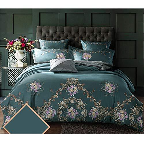 4 Stück Satin Bettwäsche Sätze Silber Doppelt Bett Größe Bettdecke Abdeckung Tailliert Blatt Kissen Abdeckung Kissen Fälle Einstellen (Sham-bett-satz)