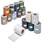 ESTEXO Profi Qualität PVC Sichtschutz-Streifen, Zaunblende, Folie, Doppelstabmatten, Zaun, Zaunfolie (70 Meter = 2 x 35 Meter, Buchsbaum-Optik)