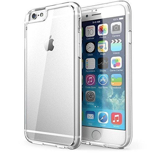 Connect Zone® Transparent Housse Étui Silicone Gel Pour iPhone 6S/6S Plus + Protège Écran et Chiffon de Polissage - Transparent Clair, iPhone 6/6S - 6 Plus/6S Plus