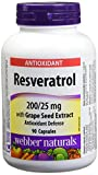Best Trans Resveratrols - Webber Naturals® Resveratrol with Grape Seed Extract 200/25 Review