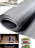 #7: Kuber Industries™ Textured Anti Slip EVA Mat, Drawer, Self Liner, Cupboard Underlay Liner, Fridge mat (Grey) 45*150 Cm Set of 1 Roll (Code-ANS05)