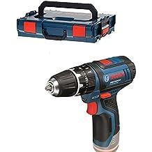 Bosch GSB Professional 12V-15 - Taladro atornillador de percusión a batería (con L-BOXX, sin batería)