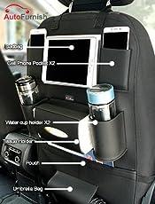 Autofurnish 3D Car Auto Seat Back Storage Bag Organizer (Black)