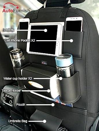 Autofurnish 3D Car Auto Seat Back Multi Pocket Storage Bag Organizer Holder Hanger Accessory Black Amazonin Motorbike