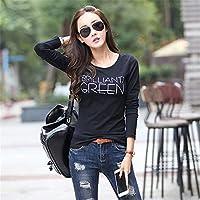 ZYZHjy Women 'S Wear Camiseta De Manga Larga,Black,L