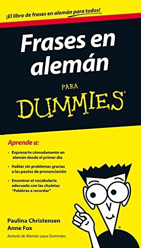 Frases en alemán para Dummies por Anne Fox