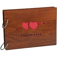 Farway - Album Fotografico Fai Da Te, in Legno, DIY Album Creativo, Scrapbook 6.3 x 8.6 inch per San Valentino,Matrimonio,Anniversario, Bambini, Forever Love