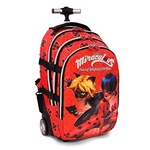 Abnehmbaren Rädern Italienisch (Karactermania Ladybug Defenders Rucksack Casual, 48cm, 28Liter, rot)