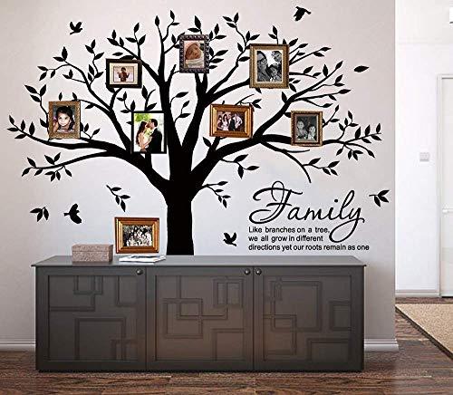 MAFENT Familie Baum Wand Aufkleber Applikator Family Like Branches on a Tree Schriftzug Tree Wandaufkleber für Schlafzimmer Dekoration Schwarz (Familie Baum-wand-aufkleber)