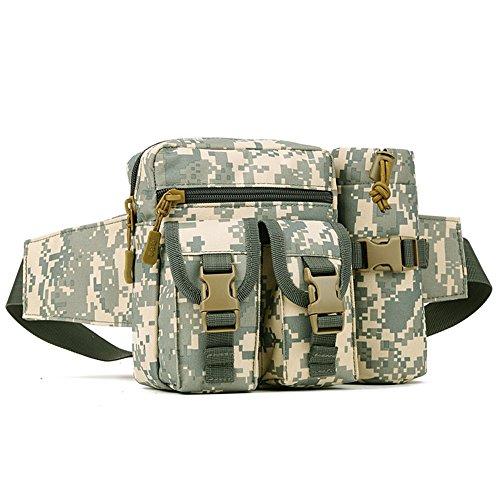 Imagen de huntvp bolso de cintura  táctical bolso de cintura bolsa riñonera bandolera cinturón estilo militar bolso de múltiple función riñoneras para herramientas  ejércita bolso impermeable para correr, senderismo, ciclismo,camping, caza, etc, color