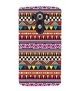 FUSON Ethnic Geometric Pattern Design 3D Hard Polycarbonate Designer Back Case Cover for LG G3 :: LG G3 Dual LTE :: LG G3 D855 D850 D851 D852