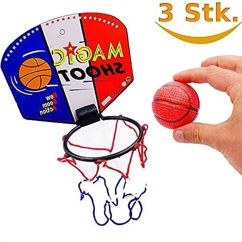German Trendseller® - 3 x petit basket-ball┃mini panier avec balle┃ petit cadeau┃l'anniversaire d'enfant┃sport ┃3 pcs