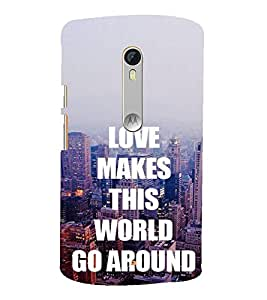 Fuson Designer Back Case Cover for Motorola Moto X Style :: Moto X Pure Edition (Love Ishq Kaadal Infactuation Compassion)