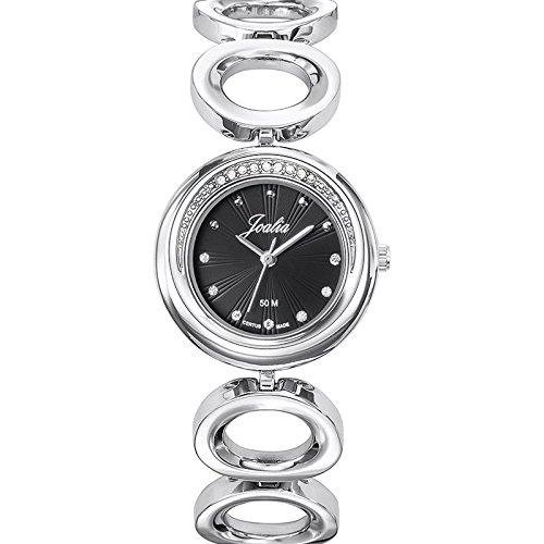 Joalia-633340-Orologio da donna con cinturino in metallo con quadrante nero argento