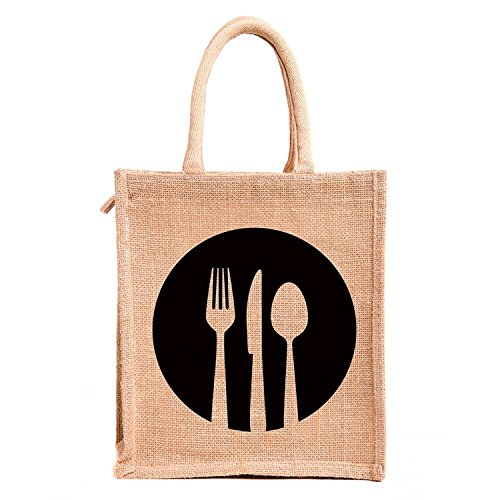 H&B Brown Jute Handbag / Quality Lunch Bag / Gift Bag / Jute Stylish Lunch Bag / Combo Offers Of Jute Lunch Bags...