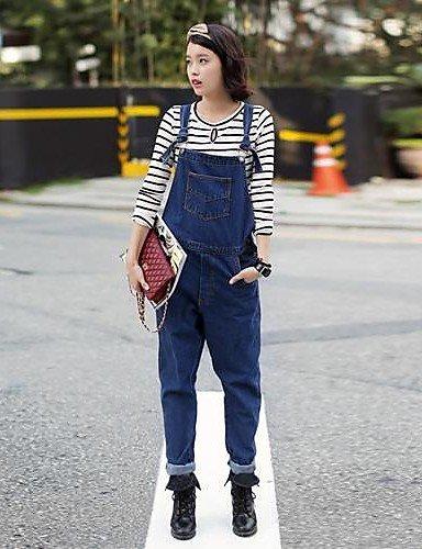 GSP-Pantalon Aux femmes Décontracté Coton / Toile de jean screen color-l