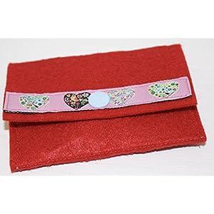 rote kleine Geldbörse - Portemonnaie