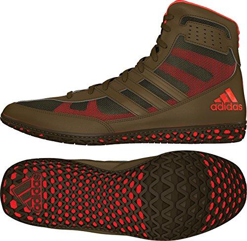 adidas Mat Wizard David Taylor Edition Men's Wrestling Shoes, Olive Green/Orange/Olive Green, Size 11.5 (Damen Wrestling Kostüm)